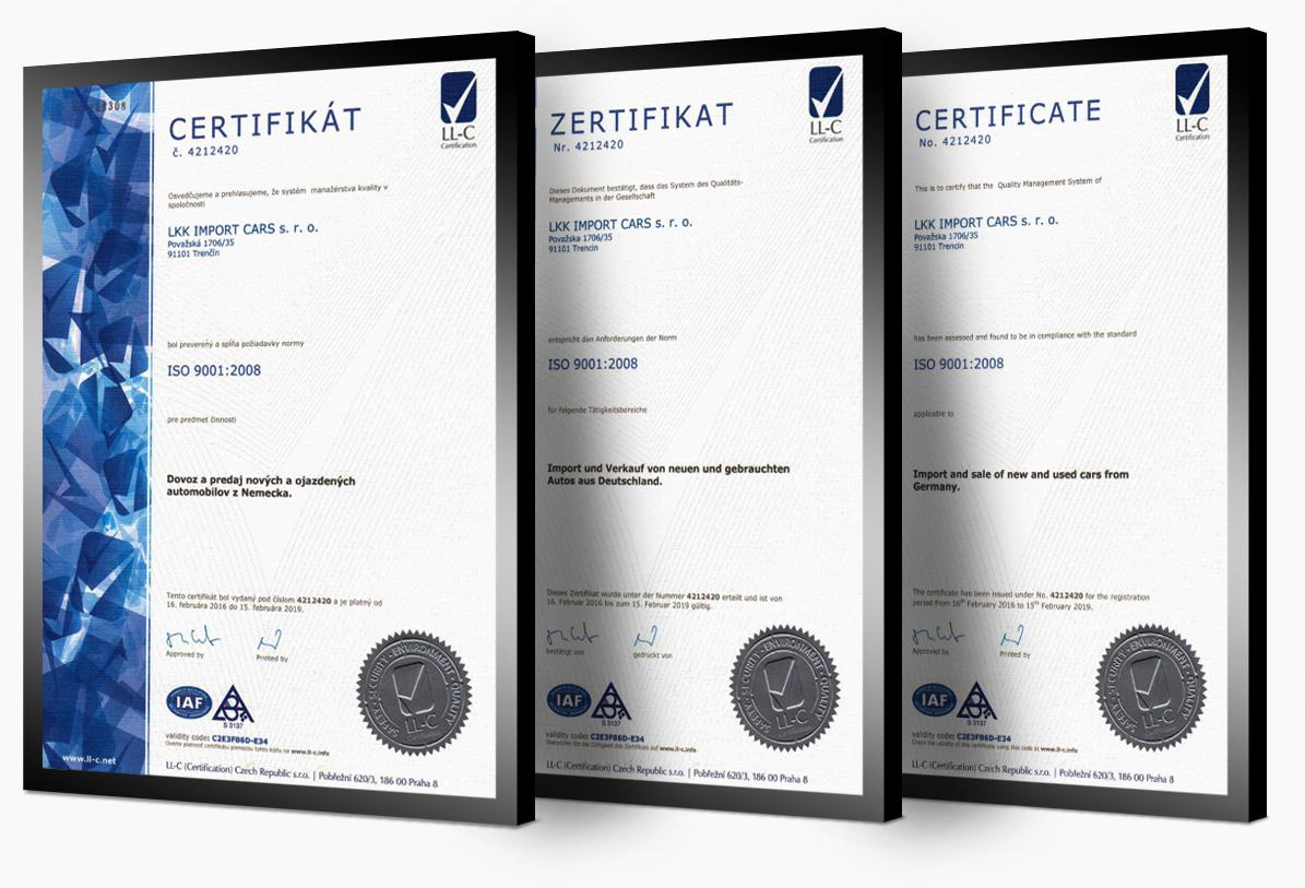 ISO certifikát kvality